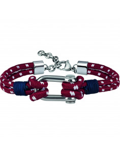 Bracciale uomo Breil Wired red
