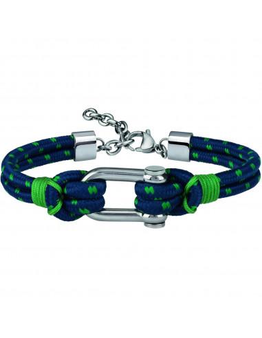 Bracciale uomo Breil Wired blue e green