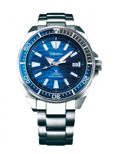 Seiko Samurai Save the ocean great white shark SRPD23K1 -