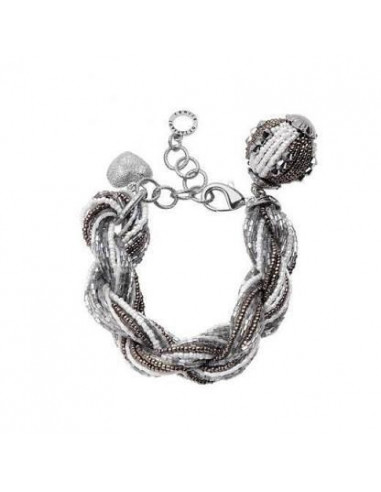 Bracciale Ottaviani torcion nero, grigio e bianco