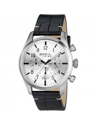 Breil Tribe Classic Elegance Extension cronografo pelle nero chairo